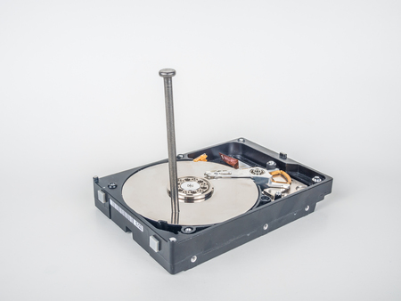 This hard drive never will work again Stock Photo