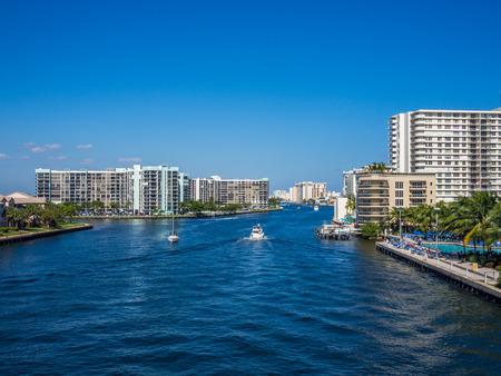 View of Hollywood city at South Florida