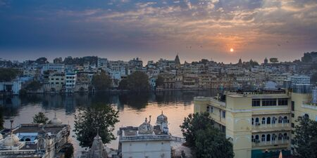 View of Udaipur from opposite side of Pichola lake