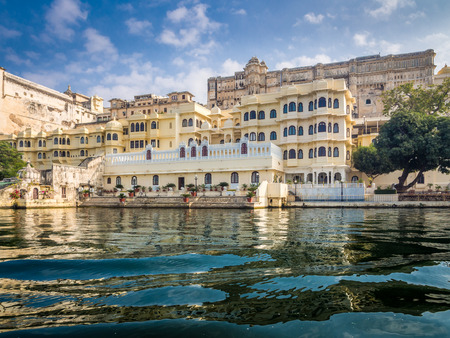 View of Udaipur City Palace from Lake Pichola