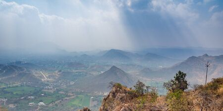 View of mountains of southern Rajasthan Stock Photo