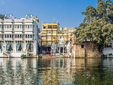 Small piece of Udaipur city life Stock Photo