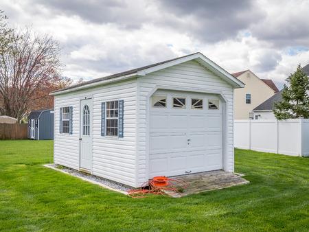 Stock photo of the shed at backyard Фото со стока