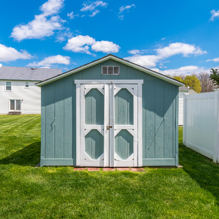 Stock photo of the shed at backyard Stock Photo