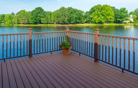 Stock photo of deck of residential house