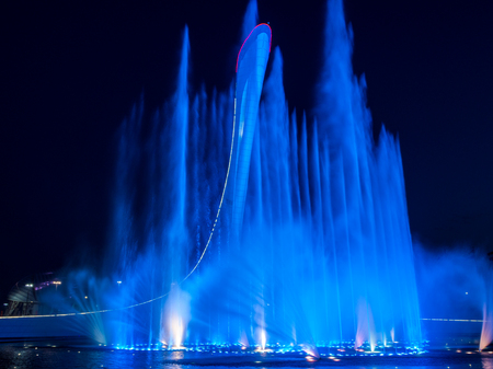 Music fountain in the Olympic Park of Winter Games 2014 in Sochi, Russia