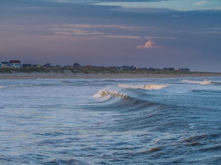 hatteras: Stock photo of ocean surf at sandy beach Stock Photo