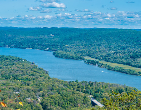 Panoramic view from Bear Mountain in upstate New York