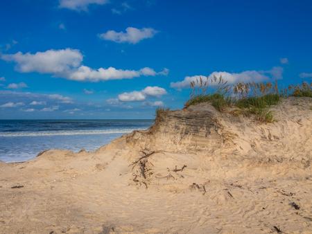 hatteras: Wild beach of Cape Hatteras National Seashore Stock Photo