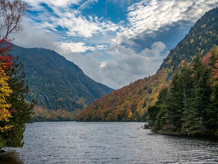 View of Lower Ausable Lake in Adirondack Mountains Stock Photo
