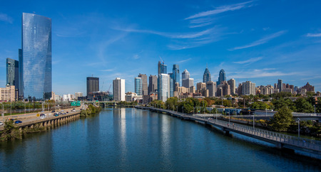 Panoramic view of Philadelphia downtown