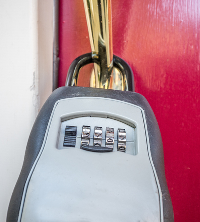 Stock photo of the lock box on the entrance door