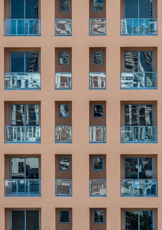 Stock photo of facade of modern residential or hotel building