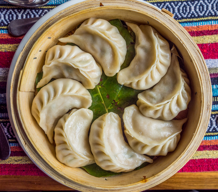Momo: the traditional dish of Nepal kitchen Stock Photo