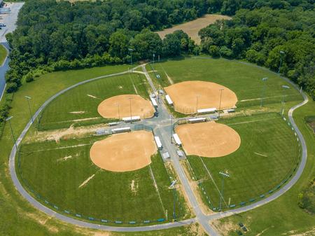 Stock aerial photo of baseball field