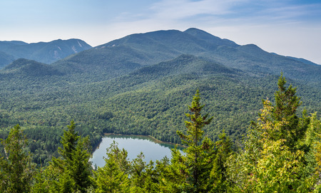 View at Heart Lake and Algonquin Mountain from Mount Jo