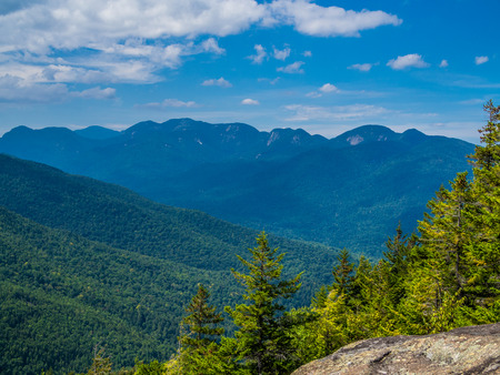 View at Adirondack High Peaks from Giant Mountain Stock Photo