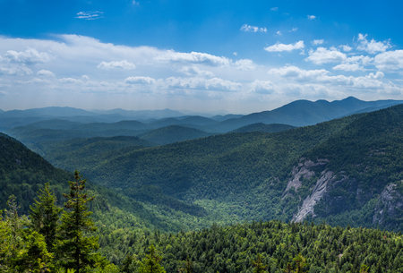 View at Adirondack High Peaks from Giant Mountain