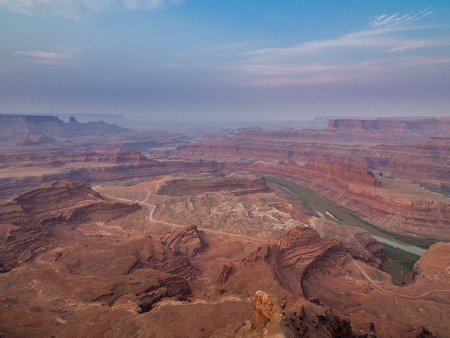 Sunrise at Death Horse Point State Park in Utah Stock Photo