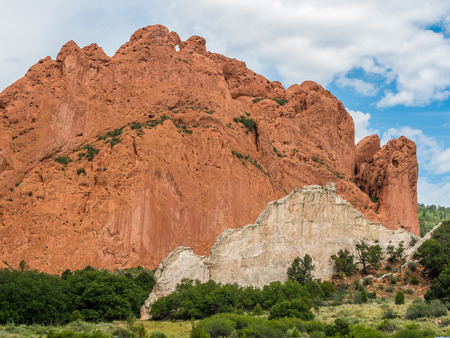 Garden of the Gods Park in Colorado Springs Stock Photo