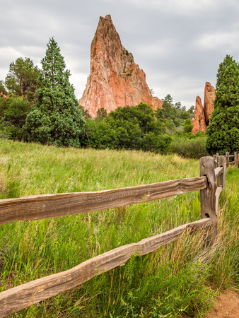 Garden of the Gods Park in Colorado Springs Banque d'images