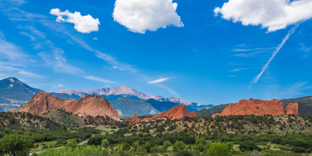Garden of the Gods Park in Colorado Springs Standard-Bild