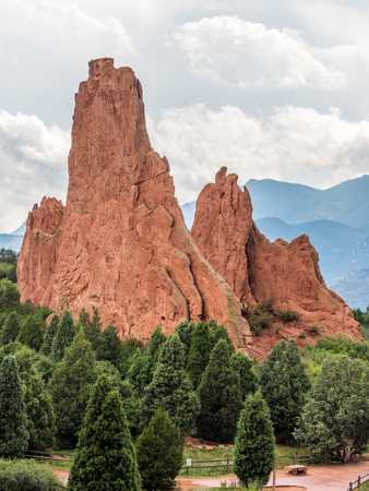 Gardern of the Gods park in Colorado Springs Stock Photo