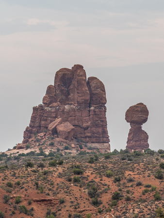 Geological formations in Arches National Park in Utah 写真素材