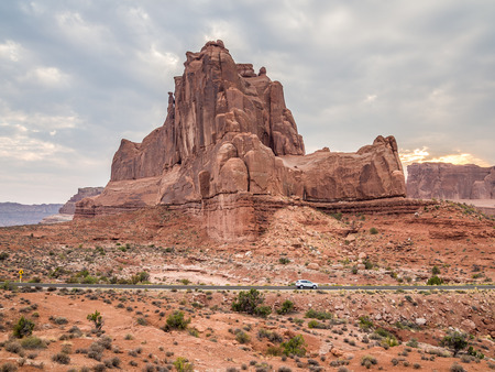 Traffic in Arches National Park