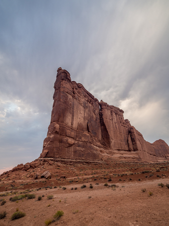 Geological formations in Arches National Park in Utah 版權商用圖片