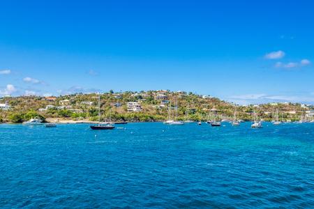 Photo of the tropcial island marina