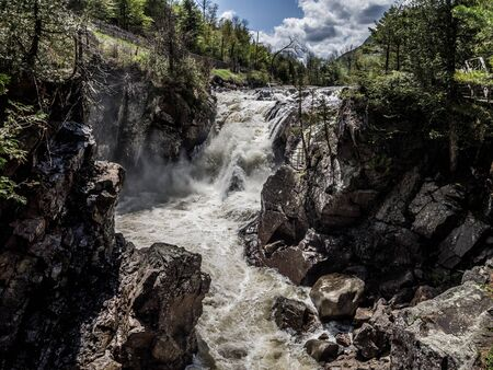 High Falls Gorge in Adirondack Mountains Imagens - 126952467