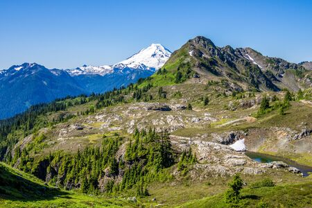 Mount Baker: the major peak  in North Cascade Mountains in Washington State