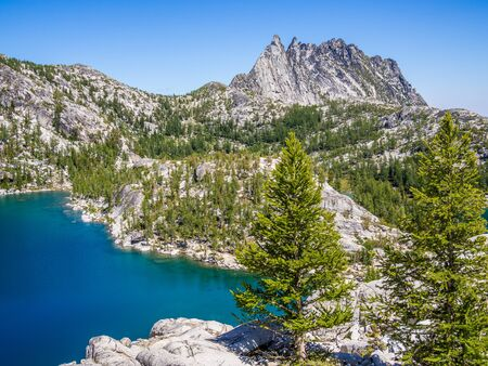 Lake along the Enchantments trail in North Cascade Mountains