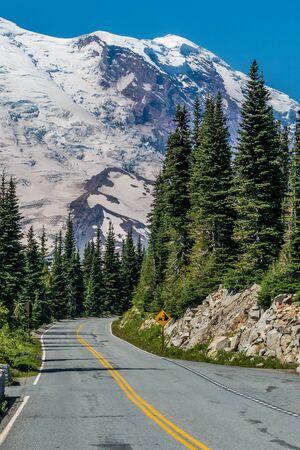Road to Sunrise Point in Mount Rainier National Park Reklamní fotografie