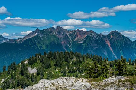 View of North Cascade Mountains