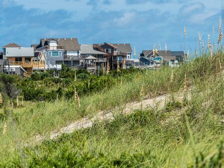 Front line of houses at North Caroline beach