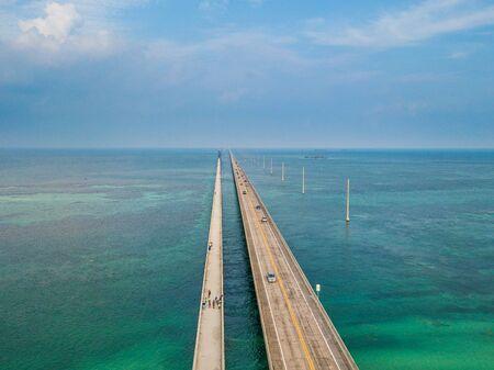 Aerial photo of Florida Keys Seven Miles Bridge Reklamní fotografie