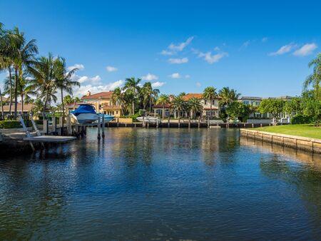 Waterfront neighbourhood in South Florida