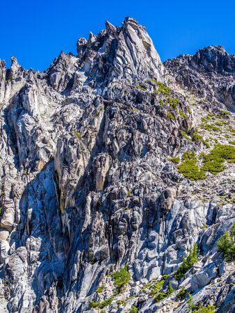 Rocky landscape of Alpine Wilderness in North Cascade Mountains in Washington State