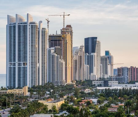 Close-up view of Sunny Isles Beach skyline