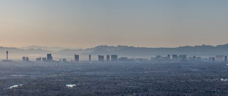 Early morning Las Vegas Valley view from the top of Lone Mountain Stock Photo