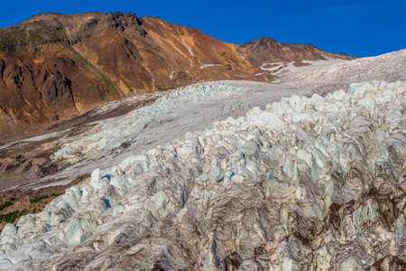 Coleman Glacier at Mount Baker in North Cascades in day light