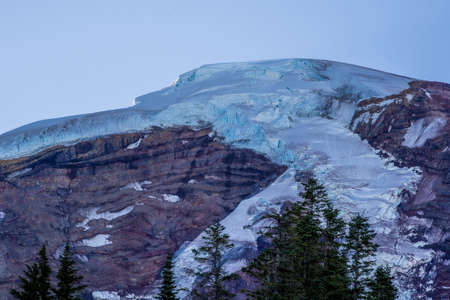 Coleman Glacier at Mount Baker in North Cascades in morning light Stock Photo