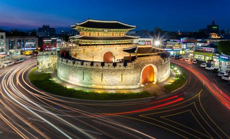 south korea: Hwaseong Fortress in Suwo, South Korea
