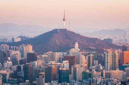 La ville de Séoul, Corée du Sud