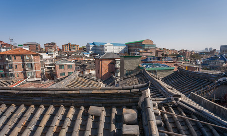 historic district: Bukchon historic district in Seoul, South Korea
