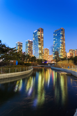 incheon: Songdo,South Korea - March 09, 2015: Songdo Central Park in Songdo International Business District, Incheon South Korea. Editorial