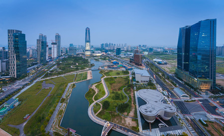 Songdo Central Park in Songdo  District, Incheon South Korea.