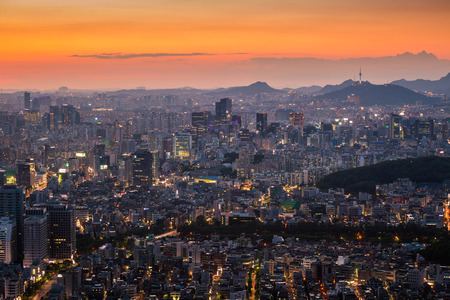 Seoul city and downtown, South Korea.